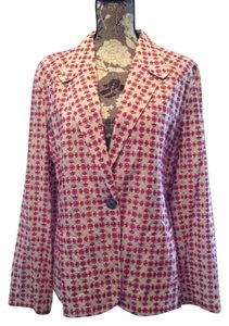 Anne Klein 16 Plus-size Preppy Nwt Red print Blazer