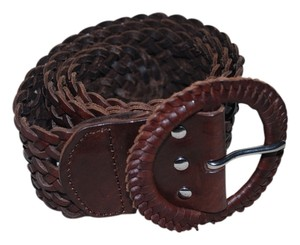 American Eagle Outfitters American Eagle Brown Leather Woven Belt XS/S