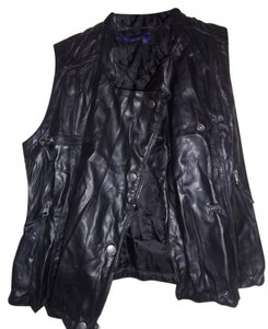 Miley Cyrus & Max Azria Leather Rocker Vest