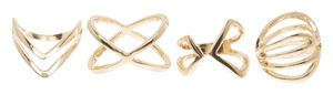 Bansri Bansri XOXO Cutout Ring Set Gold