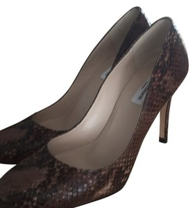 L.K. Bennett Brown snakeskin Pumps