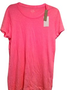 J.Crew Cotton Washable Slightly Loose Fit T Shirt neon pink