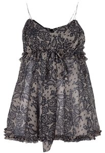 Dolce&Gabbana Lace Print Top Nude and Black