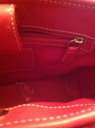 Coach Tote in Red and cream
