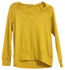 Splendid Light Sweatshirt Raglan Top Yellow