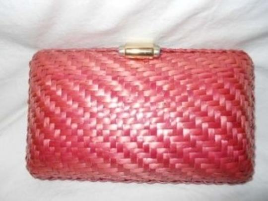Rodo Italy Woven pink Clutch