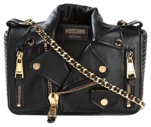 37d971e05abde Added to Shopping Bag. Moschino Shoulder Bag. Moschino Biker Jacket Leather  ...