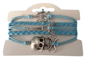no brand String skull Eiffel Tower bracelet new