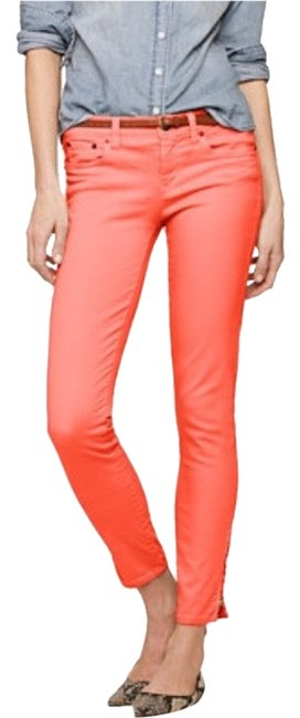 Item - Coral Garment Dyed Toothpick Ankle-zip Skinny Jeans Size 32 (8, M)