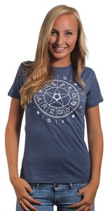 Three for Twelve T Shirt Steel Blue
