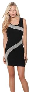 Guess Date Sleeveless Contrast Knit Dress