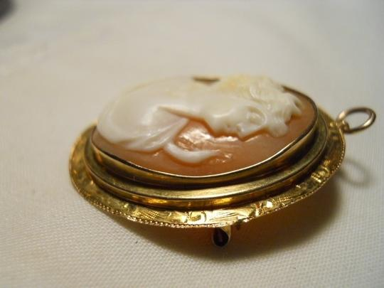 Other Vintage 10K shell cameo pin/pendant