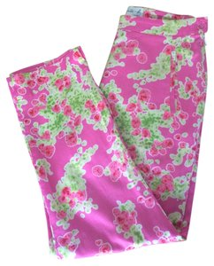agnès b. Made In France High-waisted Floral Capris Pink Multi