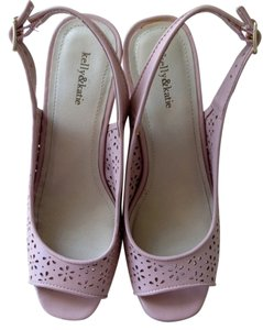 Kelly & Katie Mauve Pink Spring Wedge Comfortable Dusty pink Sandals