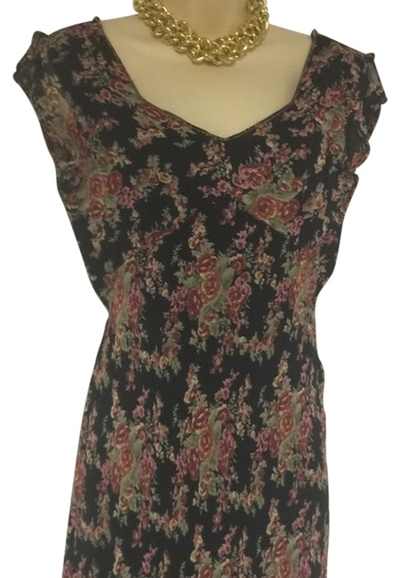 Item - XS Floral Scoop Neck Knee Length Night Out Dress Size 2 (XS)
