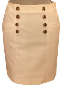 Banana Republic Size 2 Skirt White