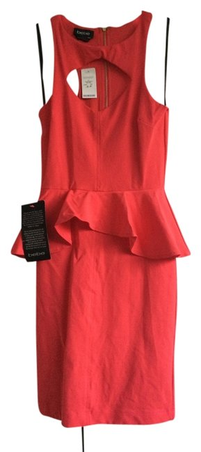 Preload https://item3.tradesy.com/images/bebe-coral-above-knee-night-out-dress-size-4-s-1348202-0-0.jpg?width=400&height=650