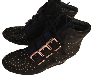 Shoe Dazzle Sneaker Wedges Black Wedges