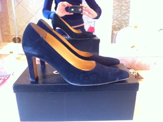 Chanel Black Suede Pumps