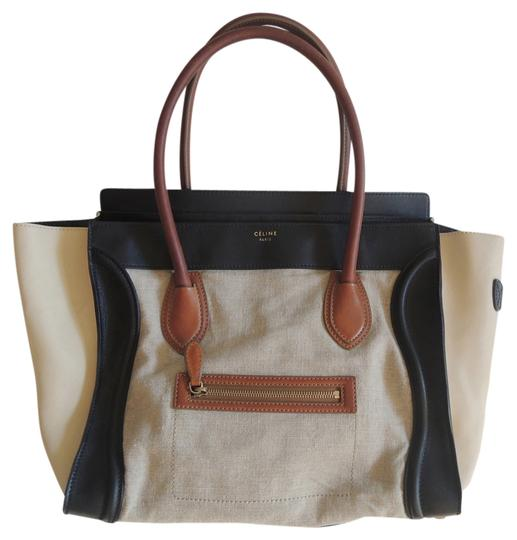 Preload https://item1.tradesy.com/images/celine-luggage-tan-black-tri-color-brown-leather-tote-1348220-0-0.jpg?width=440&height=440