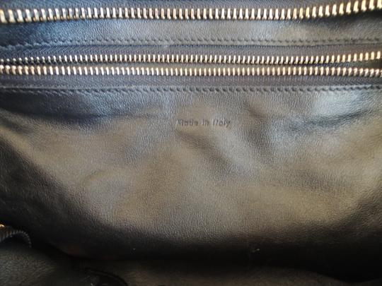 Céline Luggage Luggage Tricolor Leather Phantom Tote in brown