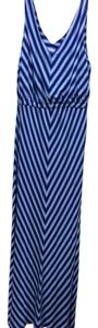 blue and white Maxi Dress by Calvin Klein