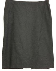 United Colors of Benetton Stretchy Pencil Wool Skirt Charcoal / Black