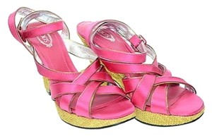 Tod's Pink/Gold Sandals