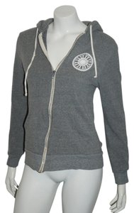 SoulCycle SOULCYCLE 14 GRAY ZIP FRONT 92ND ST HOODED TOP SZ M