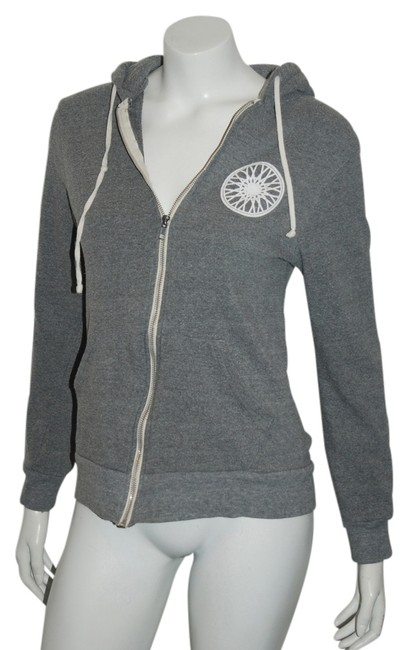Item - Gray Zip Front 92nd St Hooded M Activewear Top Size 8 (M, 29, 30)