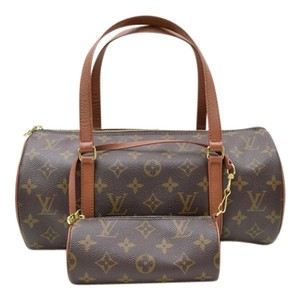 Louis Vuitton Leather Geniune Speedy Alma Shoulder Bag