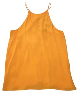 Tibi Silk Cami Top Light orange