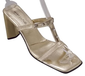 Mary Claud Metallic Gold Sandals