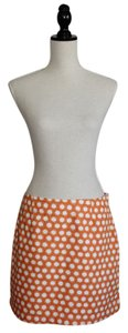 Garnet Hill Mini Skirt Orange with White Sunshines