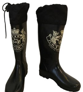 Juicy Couture Monogram Black Boots