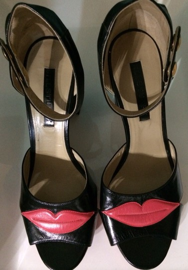 Jill Stuart Black And Red Platforms