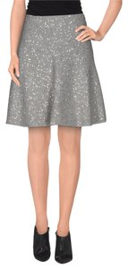 Brunello Cucinelli Gray Sequined Flare Skirt Gray/Sequins