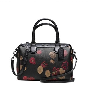 Coach Satchel in FLORA/BROWN/BLACK