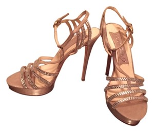 Boutique 9 Sparkle Nude/Gold Platforms