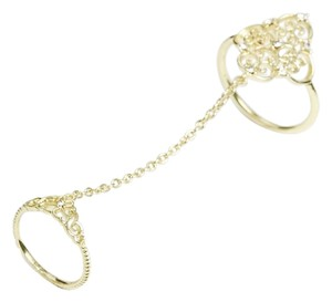 ASOS River Island Filigree Encrusted Chain Ring M