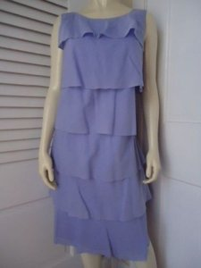 Talbots short dress Blues Ruffle Rumba Shift Periwinkle Lined Sleeveless on Tradesy