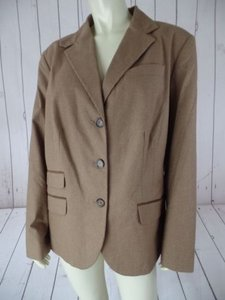 Ralph Lauren Ralph Lauren Blazer Woman 14w Brown Tan Houndstooth Cotton Elastane Hot