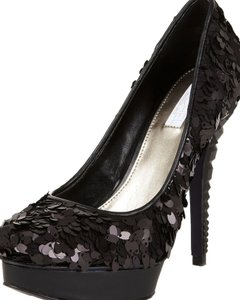 Rachel Roy Sequin Evening Formal Black Pumps