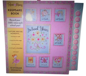 Olian Maternity Baby Girl Keepsake Scrapbook Records Her Voice Each Yr+Storage Pockets Pink