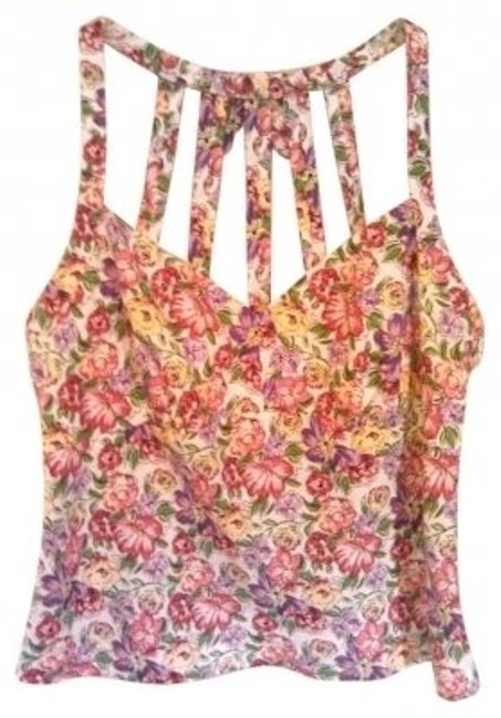 Preload https://item3.tradesy.com/images/ann-taylor-pink-sexy-floral-linen-halter-top-size-10-m-134857-0-0.jpg?width=400&height=650