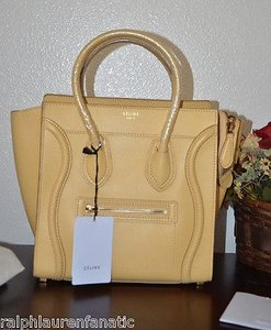 Céline Shoppers Tote in Yellow