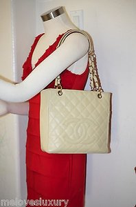 Chanel Shoppers Tote in Beige