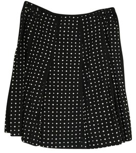 Nine West Skirt Black with white polka dots