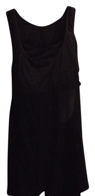 Item - Black with Gold Stitching Activewear Top Size 6 (S, 28)
