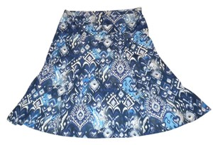 Basic Editions Maxi Skirt blue, white